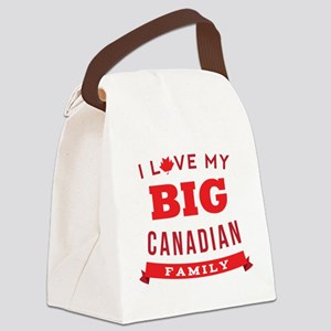 I Love My Big Canadian Family Canvas Lunch Bag