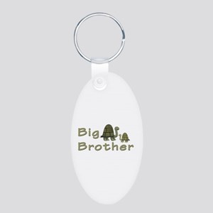 Big Brother Turtles Aluminum Oval Keychain