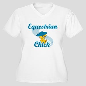 Equestrian Chick #3 Women's Plus Size V-Neck T-Shi