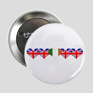 """5 Hearts Ireland UK 2.25"""" Button"""