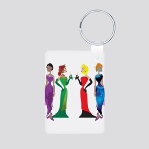 Ladies' Night Aluminum Photo Keychain