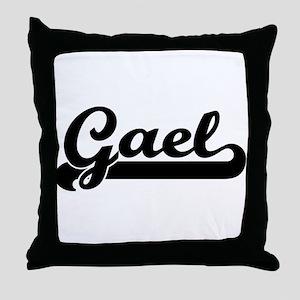 Black jersey: Gael Throw Pillow