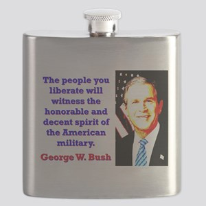 The People You Liberate - G W Bush Flask