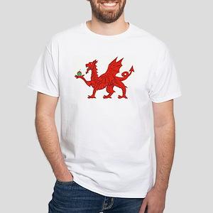 Welsh Dragon Birthday White T-Shirt