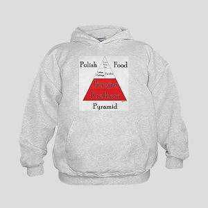 Polish Food Pyramid Kids Hoodie