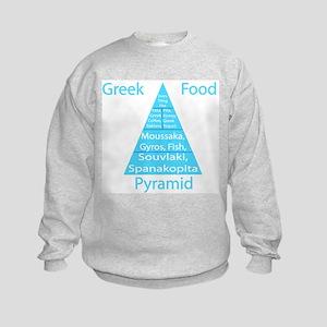 Greek Food Pyramid Kids Sweatshirt