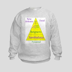 New Orleans Food Pyramid Kids Sweatshirt