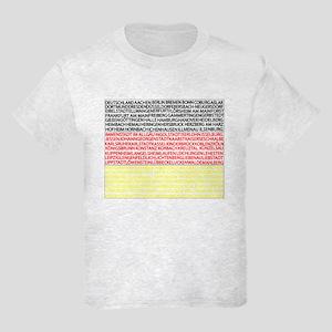 German Cities Flag Kids Light T-Shirt