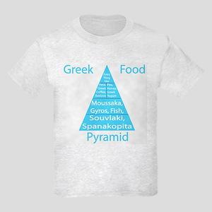 Greek Food Pyramid Kids Light T-Shirt