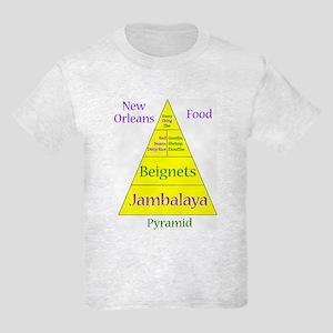 New Orleans Food Pyramid Kids Light T-Shirt