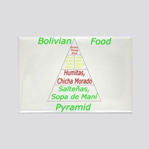 Bolivian Food Pyramid Rectangle Magnet