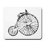 Faded Vintage 1900s Bicycle Mousepad