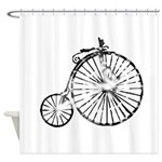 Faded Vintage 1900s Bicycle Shower Curtain