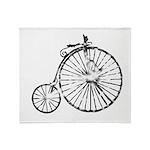 Faded Vintage 1900s Bicycle Throw Blanket