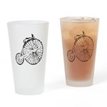 Faded Vintage 1900s Bicycle Drinking Glass