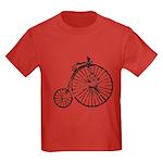 Faded Vintage 1900s Bicycle Kids Dark T-Shirt