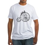 Faded Vintage 1900s Bicycle Fitted T-Shirt
