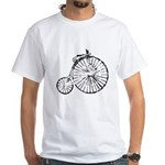 Faded Vintage 1900s Bicycle White T-Shirt