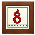 Red Italian Letter Framed Tile