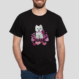 Westie Valentine Candy Dark T-Shirt