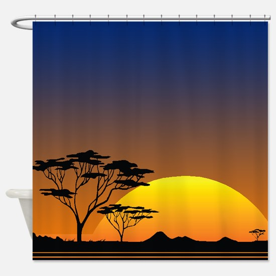 Night Sky in Paradise Shower Curtain