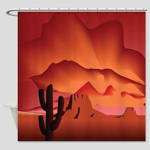 Desert in Shades of Wine Shower Curtain