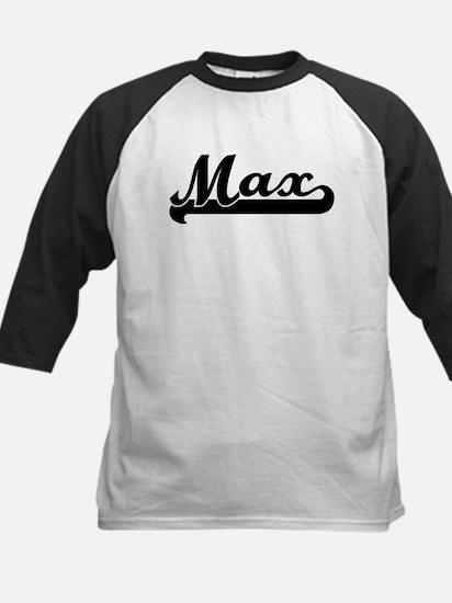 Black jersey: Max Kids Baseball Jersey