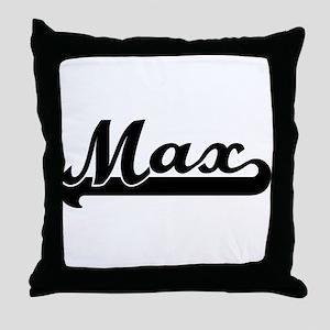Black jersey: Max Throw Pillow
