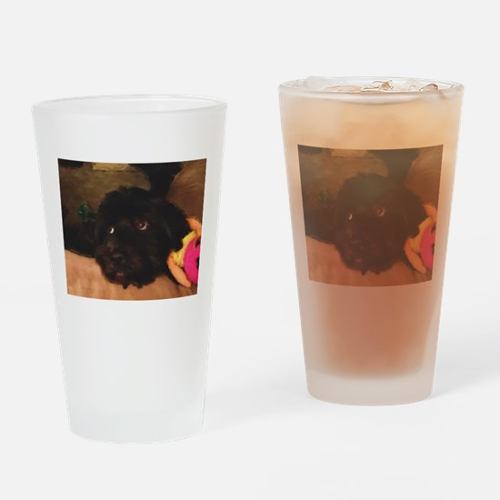 Would this face lie? Drinking Glass