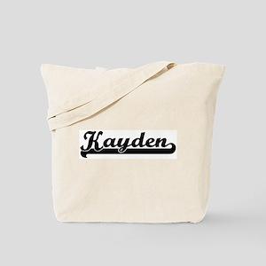 Black jersey: Kayden Tote Bag