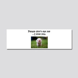 Dont Eat Me Car Magnet 10 x 3