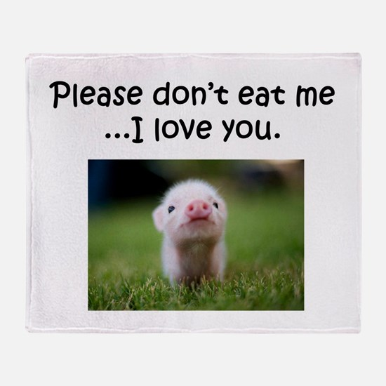 Dont Eat Me Throw Blanket