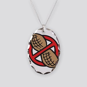 No Peanuts! Necklace Oval Charm