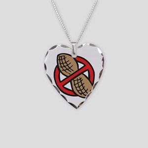 No Peanuts! Necklace Heart Charm