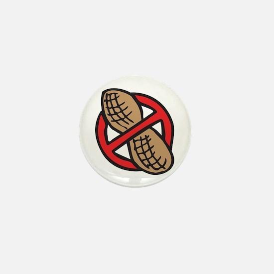 No Peanuts! Mini Button