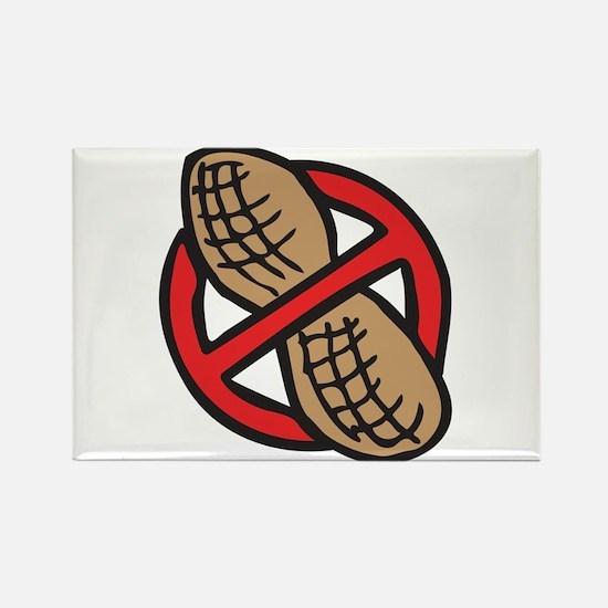 No Peanuts! Rectangle Magnet