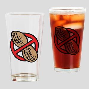 No Peanuts! Drinking Glass