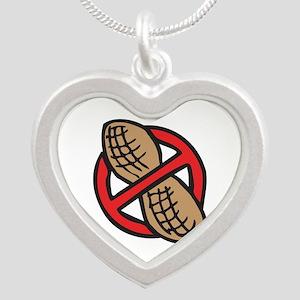 No Peanuts! Silver Heart Necklace