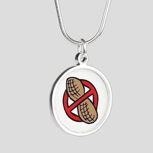 No Peanuts! Silver Round Necklace