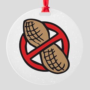 No Peanuts! Round Ornament