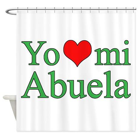 I Love My Grandma Spanish Shower Curtain