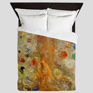Odilon Redon Buddha In His Youth Queen Duvet