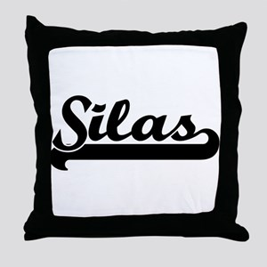 Black jersey: Silas Throw Pillow