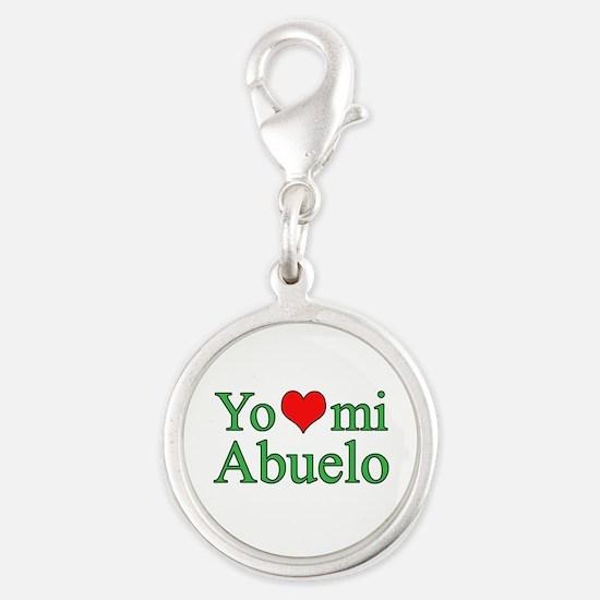 I love grandpa (Spanish) Silver Round Charm