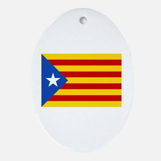 LEstelada Blava Catalan Independence Flag Ornament