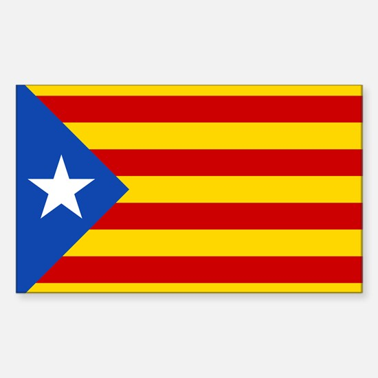 LEstelada Blava Catalan Independence Flag Decal