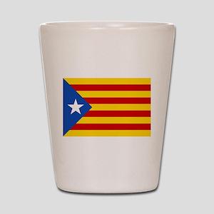 LEstelada Blava Catalan Independence Flag Shot Gla