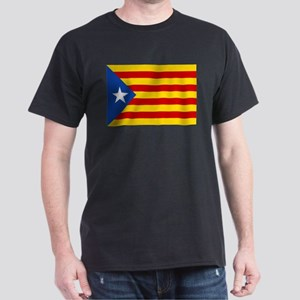 LEstelada Blava Catalan Independence Flag Dark T-S