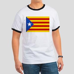 LEstelada Blava Catalan Independence Flag Ringer T