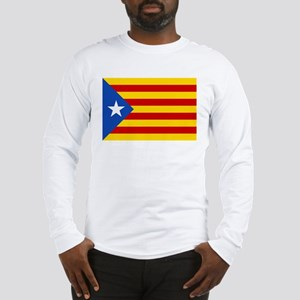 LEstelada Blava Catalan Independence Flag Long Sle